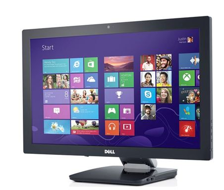 Dell S2340T multi-touch Windows 8 monitor (front)